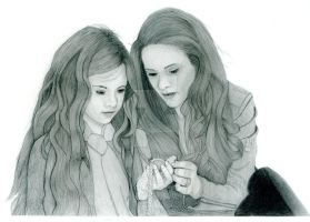 Renesmee and Bella Cullen by PaulMichaels