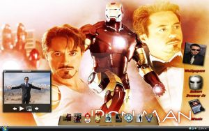 my Desktop RDJ and Iron Man by xxmsrockxx