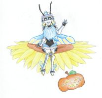 MGC Insect Girl - Halloween -3 by REDDISH-MUSE