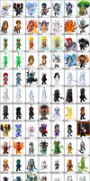 100 Avatars by Tye-dyeKirby