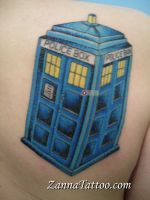 TARDIS tattoo by LuckyPineapple