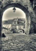 Old medieval town in Sighisoara by missfortune11