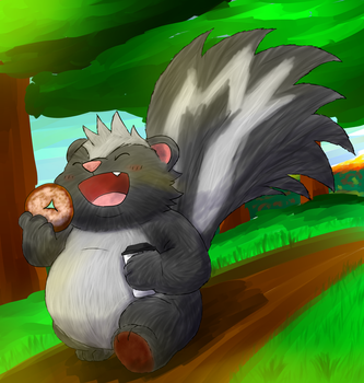 Morning Skunky by Alvro