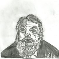 Brian blessed (pencil sketch) by cobra10