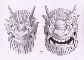 Japanese Masks 2 by Laranj4
