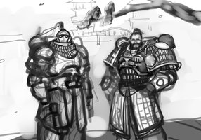 WIP sketch : white scars by kimplate