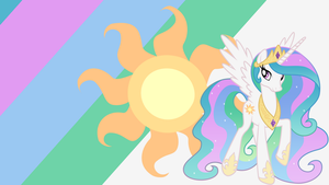 - Princess Celestia Wallpaper - by Ponyphile