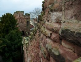 Chester City wall and tower by popicok