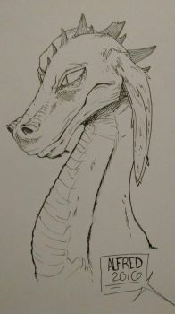 Dragon I Guess  by Alfies-an-Artist