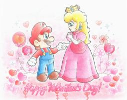 .:Happy Valentine's Day ^^ :. by CloTheMarioLover