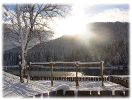 winter at the lake 3 by austriangirl