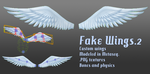 MMD- Fake Wings.2 -DL by MMDFakewings18