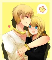 Gil X Saber by revanche7th