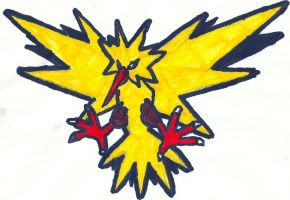 Zapdos Coloured by CoolMan666
