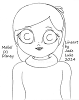 Mabel Big Eye Lineart by MinorasPatchworkArt