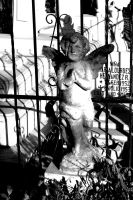 angel on grave by RipperBlack666