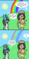 Pokemon Amie- Meeting Zygarde by Sky-Lily