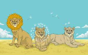 dandelions by Snowback
