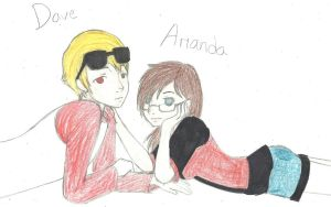 Dave and Amanda (just chilling) colored by 73RR1F13D-4M814NC3