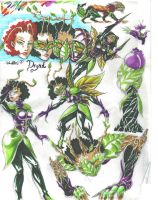 Dryad concept sketches by TheCreationist