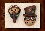 Steampunk Emote Pins by FauxHead