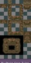 BW style CAVE_TILES by Magic-Purple-Hermit