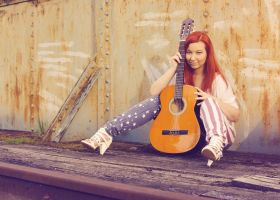 Janette and Guitar Vintage by VampKath