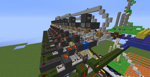 Tic Tac Toe Redstone Build - Components 7 by bugworlds