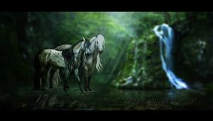 WE COMMISSION: Akroma and Underoath by BlueHorseStudios