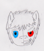 Night Cloud Face (Split, coloured eyes) by Zhooves
