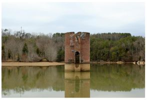 Silo in Telico Lake by CrystalMarineGallery