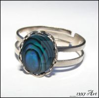 Creative Process Ring in Blue by 1337-Art
