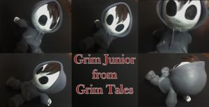 Grim Jr Sculpture - fanart by apple-pai