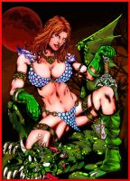 Red Sonja Colored by Geosammy
