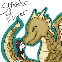 Wings of Fire- Smolder and Flower by Minish-Mae