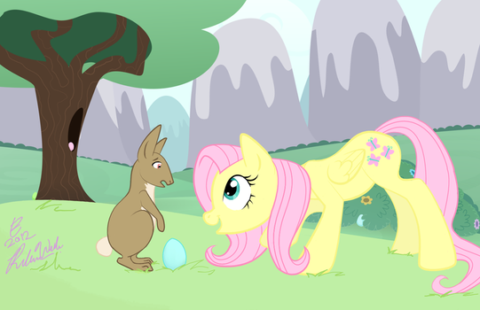 Fluttershy Meets the Easter Bunny by LoosingReality