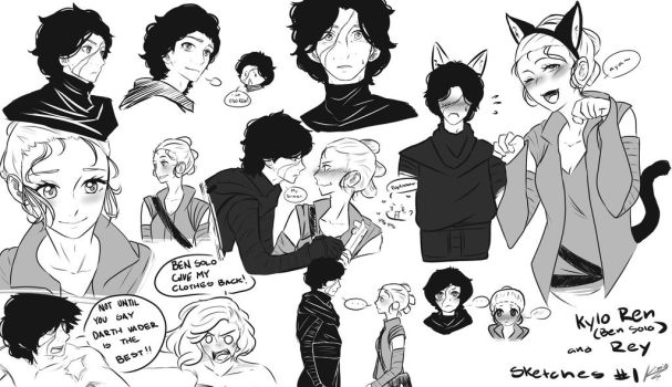 Reylo Sketches by kimiezz