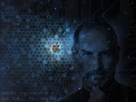 Steve Jobs Wallpaper by vladiwosok