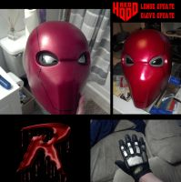 new Red Hood Helmet WIP4 by ajb3art