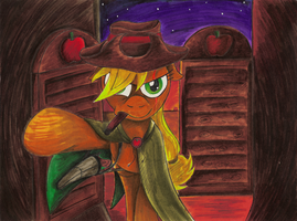 Comission - MLP. Applejack Gunmare by jamescorck
