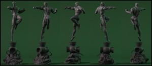 Green Lantern Statue wip by AYsculpture