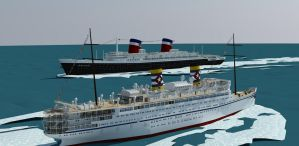 SS United States and SS Cuba by fabrizio3d