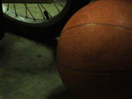 Basketball and Tire by armageddon