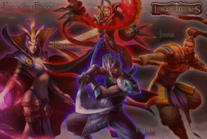 My League of Legends Team by KaiizaTheOriginal