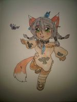 Native Fox Girl by Aiko-Gigitsune