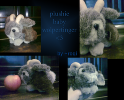 Plushie Baby Wolpertinger by Roqi