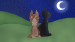 .: Leafpool and Crowfeather :. by AlbinaReed