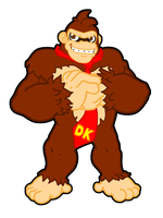 Radical Donkey Kong by CatchShiro