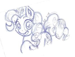 Bored At Work Pinkie Sketch by LateCustomer