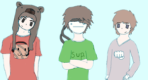 Ken, Cry, and Pewdie by Cheezitss